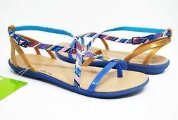 Croc's Women's Isabella Gladiator 205146-4HT in Blue Jean Go