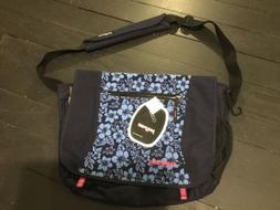JANSPORT CROSSBODY BACKPACK THE FRONT HAS BLUE JEAN HIBISCUS
