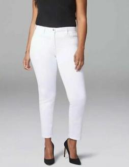 NYDJ Curves 360 Straight Jeans Size 14 Slim Ankle White $109
