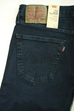 Dark Blue Men's Levi's 527 Slim STRETCH  Bootcut  Jeans: 055