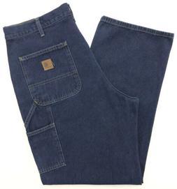 CARHARTT Dungaree Carpenter Jeans Mens 38x32 B13HDK Denim