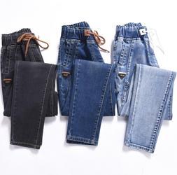 elastic boyfriend for women <font><b>jeans</b></font> woman