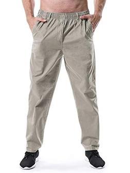 Men's Full Elastic Waist Lightweight Workwear Pull On Cargo