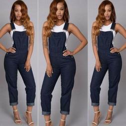 Fashion Women Denim Jeans BIB Pants Overalls Straps Jumpsuit