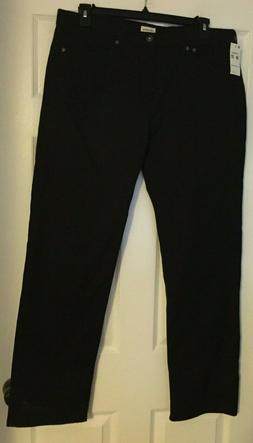 Dockers Men's Five-Pocket Stretch Straight Fit Pant, Black ,