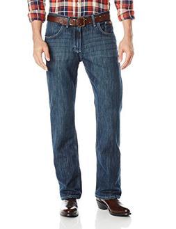 Wrangler Men's FR Vintage Bootcut Jean, Dark Wash, 34Wx34L
