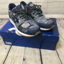 Asics Gel Lyte III Size 10 Denim Indigo Blue Mens Shoes H7D3