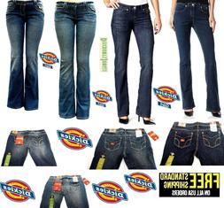 Dickies Girl /Women's Relaxed Slim Bootcut Stretch Blue Deni