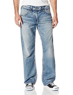 Silver Jeans Co. Mens Gordie Loose Fit Straight Leg, Light I