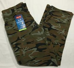 Wrangler Green Camo Outdoor Performance Comfort Flex Cargo P