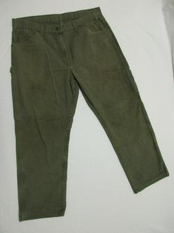 Dickies Green Carpenter Relaxed Fit Jeans Men's Size 36 x 30