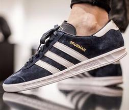 ADIDAS HAMBURG MENS SHOES BLUE SUEDE LEATHER JEANS CITY BERN