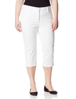 NYDJ Women's Plus-Size Plus Hayden Crop Colored Denim Jeans,