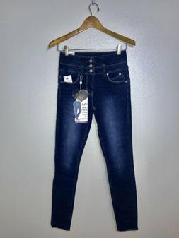 YMI High Rise Skinny Jeans Wannabettabutt Triple Button Stac