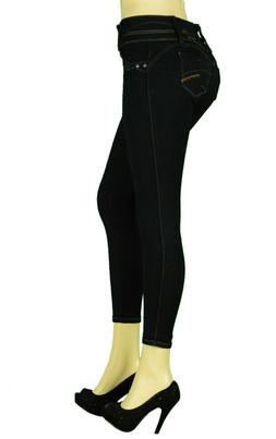 High Waist Stretch Push-Up Colombian Style Skinny Jeans in B