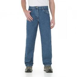 """Wrangler 28"""" Inseam Relaxed Fit Jeans Antique Indigo, ANTIQU"""