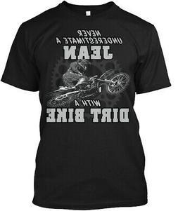 Jean With A Dirt Bike Hanes Tagless Tee T-Shirt
