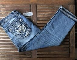 Miss Me Jeans Capri Size 32 Mid Rise Easy Crop NWT
