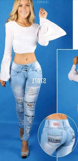 JEANS COLOMBIANOS S7071C Authentic Colombian Push Up Jeans,