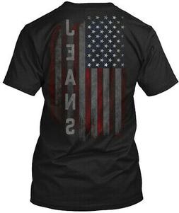 Jeans Family American Flag Hanes Tagless Tee T-Shirt