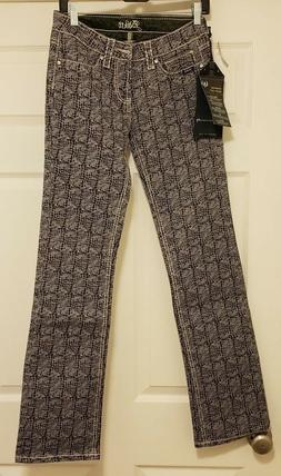 Adiktd jeans Grand Champion Midrise BootCut  Rare Design NWT