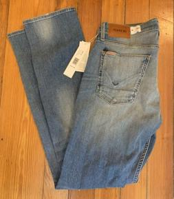 """Hudson Jeans Men 31 """"Bryon"""" Straight Ripped Blue MSRP $1"""