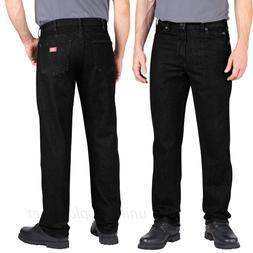 DICKIES Jeans Men Industrial Regular Fit Black Denim Jean 10