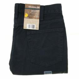 Carhartt jeans men's relaxed straight fit weathered duck bla
