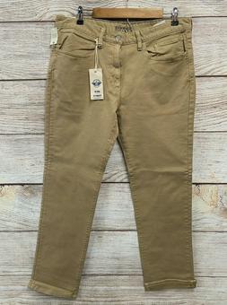 Dockers Jeans Mens 38X30 Beige Alpha Khaki Straight Fit Stre