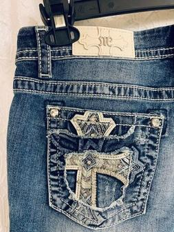 Miss Me jeans - NWT - size 32 - Mid-Rise Easy Crop - cross p