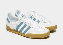 adidas Jeans Trainers in White & Blue leather & suede, gum s