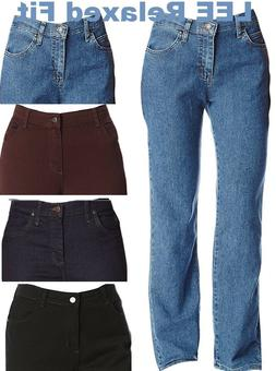 Lee Jeans Women's Relaxed Fit Straight Leg Pants Stretch Jea