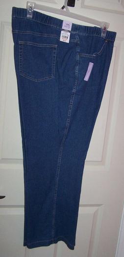 Hanes JMS 4 Pocket Comfort STRETCH Bootcut Pant~Blue Black ~