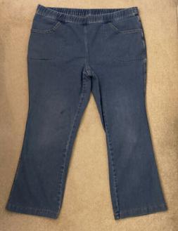 Hanes JMS Just My Size Capris Blue Jeans Petite 2X 18W-20W