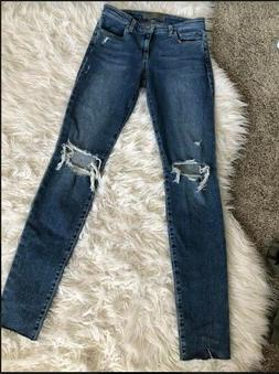 Joe's Jeans The Icon Mid Rise Skinny Ankle Size 27 with Fr