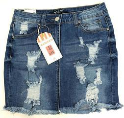 Wax Jeans Juniors Small Denim Mini Skirt Mid Rise Stretchy R