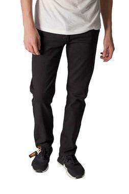 KAYDEN.K Men's Slim Fit Jeans BLACK Twill Denim Pants Size 3