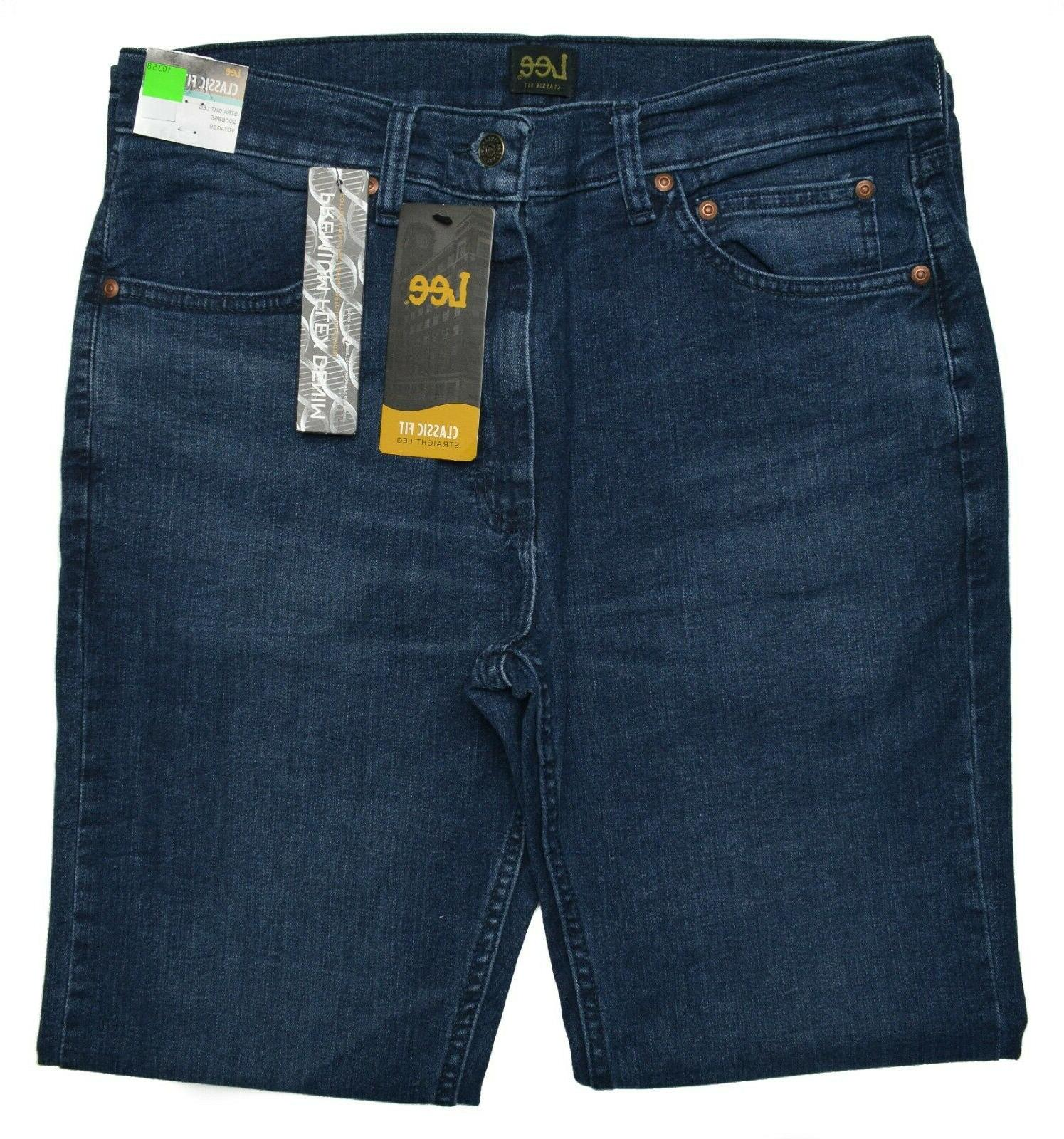 Lee NEW Men's Classic Straight Premium Flex Jeans