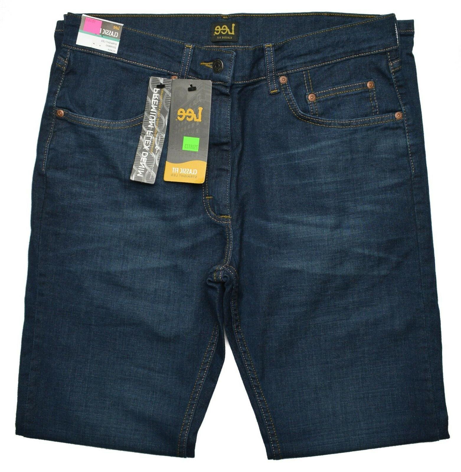 Lee #10360 NEW Classic Fit Straight Premium Flex Hijack Jeans