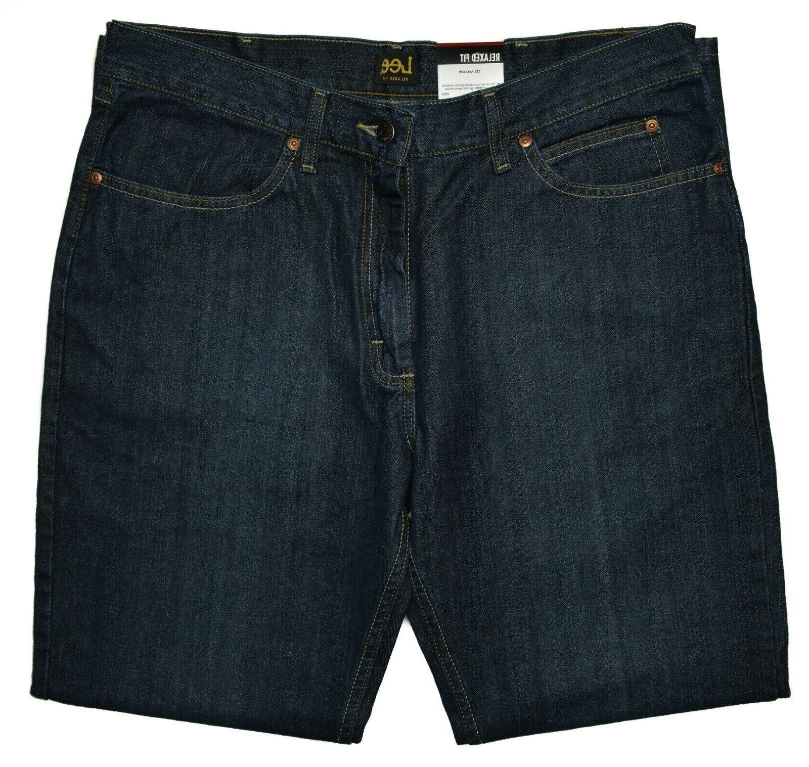 Lee NEW Relaxed Fit Straight 100% Cotton Zion Jeans