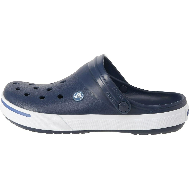 Crocs 11989-01W Mens Sz 12 Crocband Clogs Navy