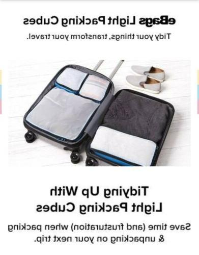 3pc light packing cubes in black sealed
