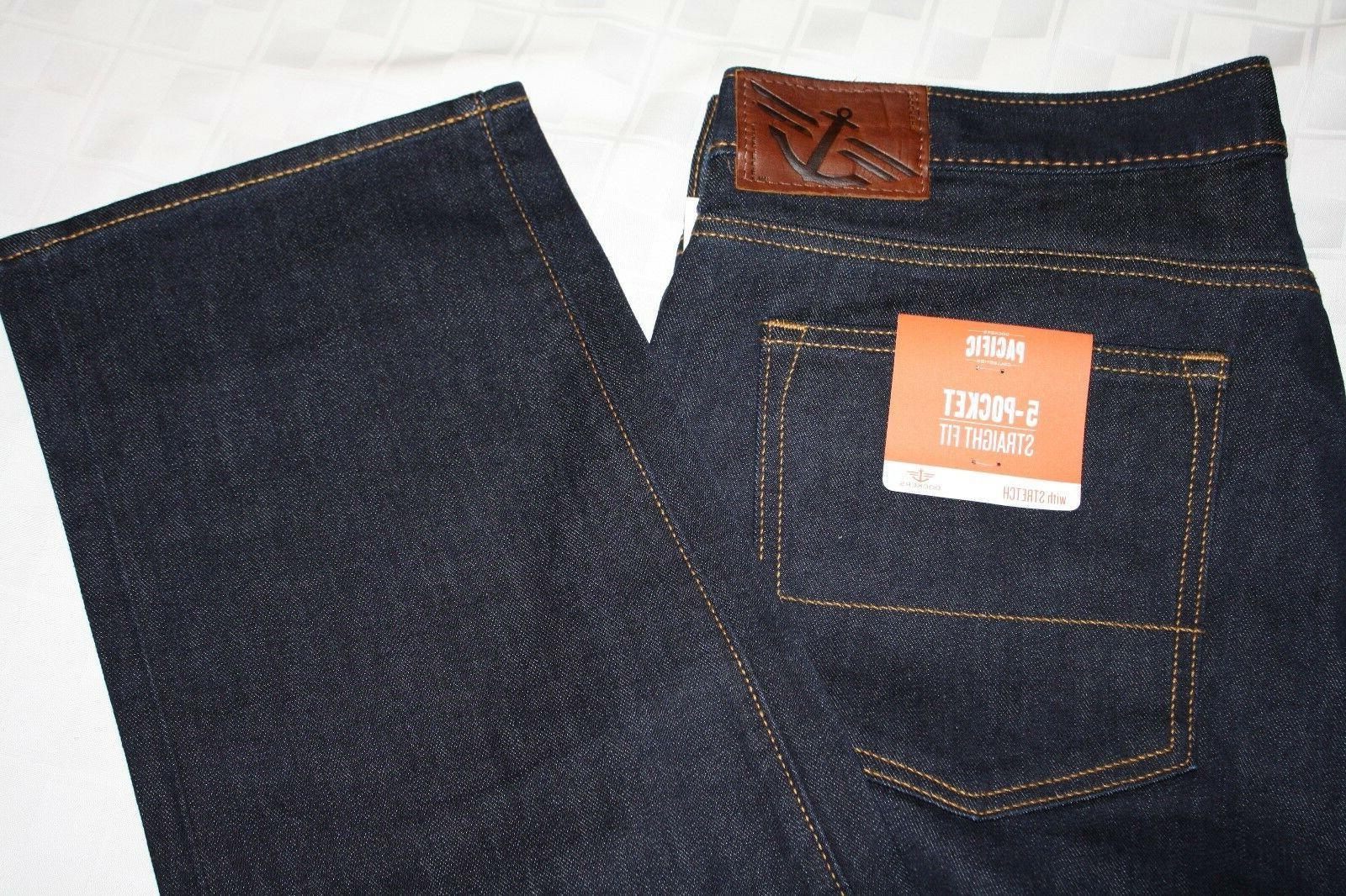 DOCKERS 5-Pocket Straight Fit Men's  Dark Blue Jeans, Stretc