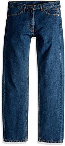 Levi's Men's 505 Regular Fit-Jeans, Dark Stonewash, 36W x 32
