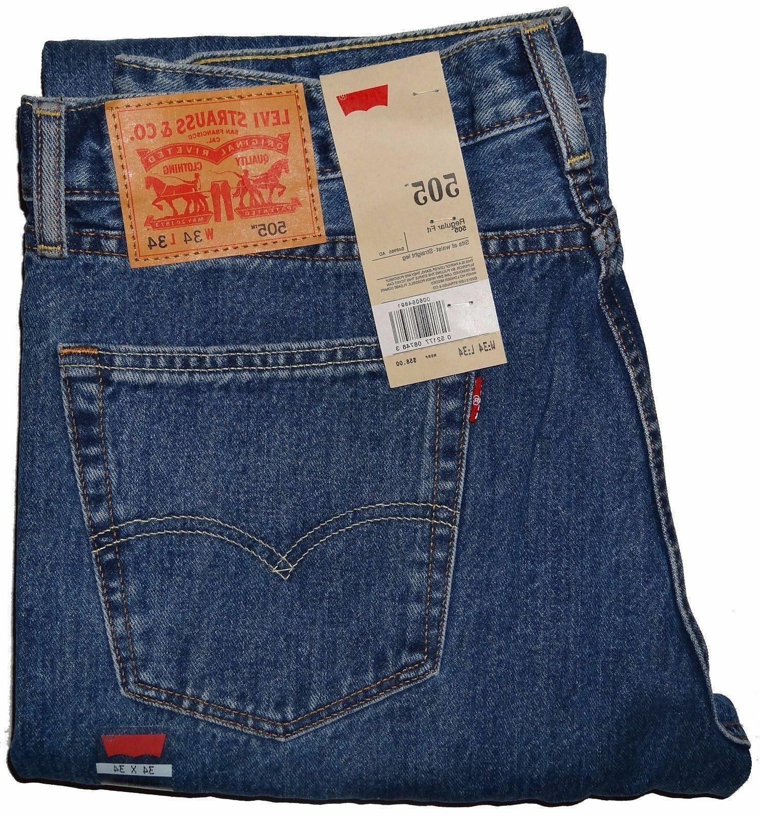 505 regular fit jeans medium blue stonewash
