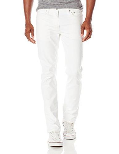 Levi's Men's 511 Slim Fit Jean, White - Stretch, 28W x 32L