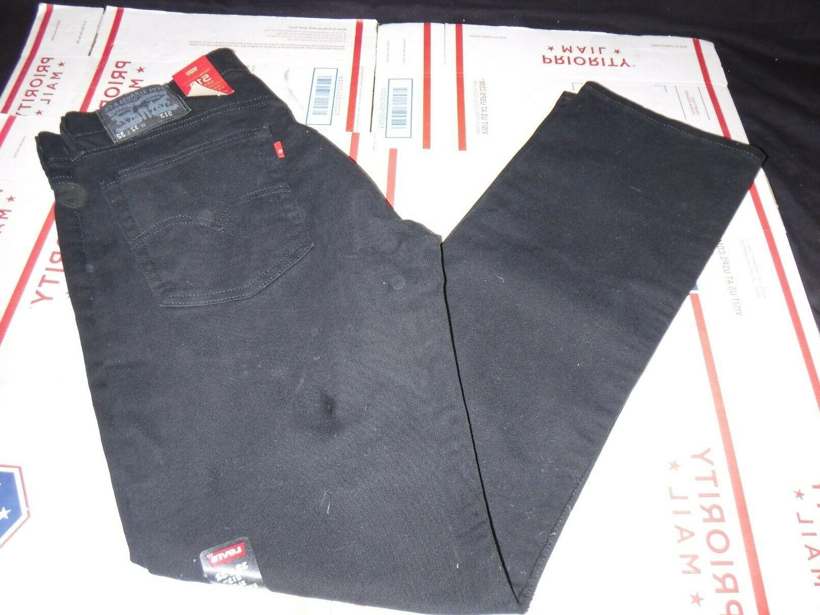 Levi's Men's 513 Stretch Slim Jean, Jet, 32x32