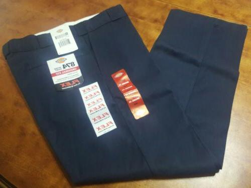 DICKIES PANT ORIGINAL FIT 34X30 FLEX COMFORT COLOR NAVY