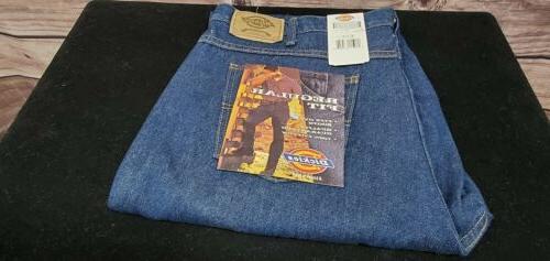 Dickies 9393RNB42X30 Indigo Blue Straight Leg Work Jeans - 4