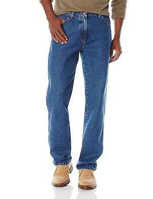 Wrangler Authentics Mens Classic Regular-Fit Jean, Stonewash